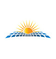 solar energu logo vector image