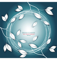 twigs and leaves and round frame vector image