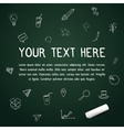 Your text here on chalkboard with chalk vector image