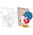 Santa with Christmas gifts vector image