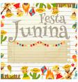 festa junina - brazil festival vector image vector image