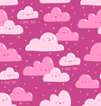 Pink clouds pattern vector image vector image