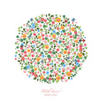 Round pattern of small flowers Mothers day With vector image vector image