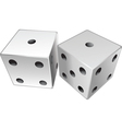 rolling dice vector image vector image