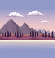 colorful background with dawn mountain valley vector image