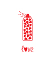 Deodorant spray with hearts inside Card vector image