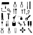 hand tool icons vector image