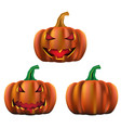 happy halloween party concept with ghost pumpkin vector image