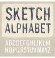 hatching alphabet vector image