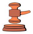 judge gavel icon cartoon vector image