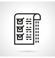 Medical checklist black line icon vector image