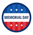 Memorial day color badge vector image