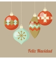 Retro Merry Christmas greeting card invitation vector image