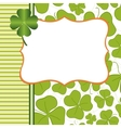 Saint Patricks Day Postcard vector image