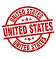 united states red round grunge stamp vector image