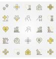 Veterinary medicine colored icons vector image