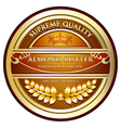 Almond Butter Label vector image vector image