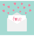 Envelope with hearts Love card vector image