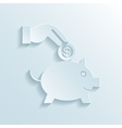 Savings and economy paper icon vector image vector image