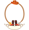 cowboy rope frame vector image