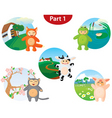 animal costume set vector image vector image