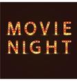Movie night sign vector image