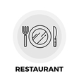 Restaurant Line Icon vector image