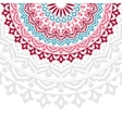 Invitation card with round Indian ornament vector image vector image
