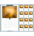 Wall Monthly Calendar for 2017 Year 12 Months vector image