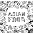 Asian food background vector image