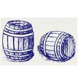 Beer barrels vector image