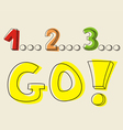 Countdown 1 2 3 go vector image