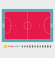Futsal court vector image