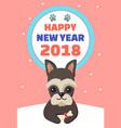happy new year 2018 symbol vector image