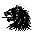 Heraldic lion head simple vector image