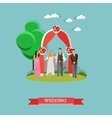 Just married couple concept vector image
