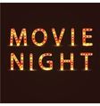 Movie night sign vector image
