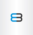 number 8 and 3 logo 83 icon vector image