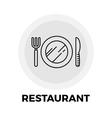 Restaurant Line Icon vector image