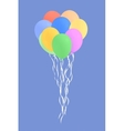 set of colourful birthday or party balloons vector image