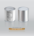 tin cans Realistic Element for design vector image