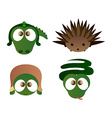 Isolated cute animals vector image