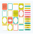 template for notebooks cute design elements in vector image