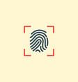 flat icon fingerprint element vector image