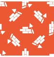 Orange building wall pattern vector image