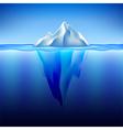 Iceberg in water background vector image
