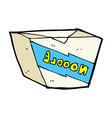 comic cartoon noodle box vector image