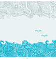 Stock background on the marine theme with an vector image