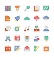 Education Flat Colored Icons 2 vector image
