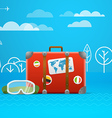 Travel bag Vacation concept vector image vector image